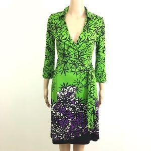 Diane Von Furstenberg Justin Silk Wrap Dress